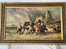 Oil On Canvas Italian Grand Master Gonzalvo Carelli ( Conzalvo ) 1818 - 1910