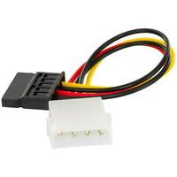 Molex IDE 4 Pin Male to SATA Female Power Wire Cable Cord Adapter