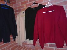 AUGUST SILK WOMANS LOT OF 4 CARDIGAN LIGHT SWEATERS SIZE 1X