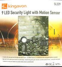 9 LED luce di sicurezza con sensore di movimento pannello solare per giardino percorso porta all'aperto