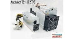 Lightly used  BITMAIN Antminer T9+ 10.5TH/s ASIC Bitcoin BTC Miner w/ PSU