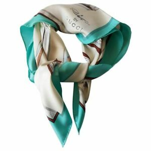 "Gucci Riva by Gucci Rare square silk scarf NEW  ""Riva by Gucci"" NEW WITH TAGS"