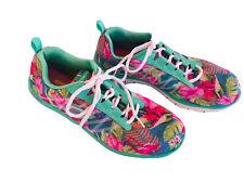 Rare Women's SKETCHERS FLEXSOLES Aqua & PINK FLAMINGO Walking Shoes Size 9