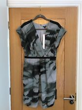 LIMITED COLLECTION M&S Grey Mix Knee Length Chiffon Dress Size 10 - NEW £39,50