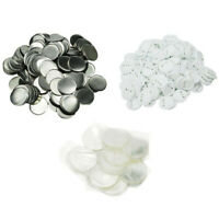 37mm Blank ABS Pin Badge Button Supplies for Badge Maker Machine - 100Pcs