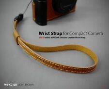 Lim's Genuine Leather Camera Wrist Strap for Leica SONY Fujifilm Light Brown