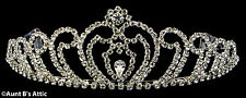 Tiara Silver Metal & Rhinestone Princess Queen Or Debutante Costume Headpiece