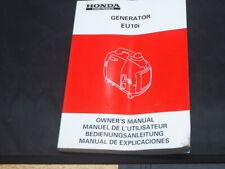 HONDA generator EU10 i OWNER MANUAL MANUEL DE L'UTILISATEUR