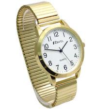 Ravel Men's Super-Clear Quartz Watch with Expanding Bracelet gold #45 R0232.22.1