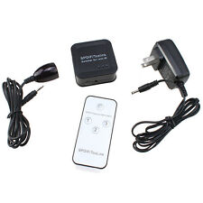 3-Port SPDIF TOSLINK Digital Optical Audio Switch Switcher Box 3x1 with Remote