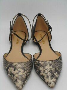 Coach Jameson Snake Print Pointy Toe Ankle Wrap Flats Sz 8  Shoes