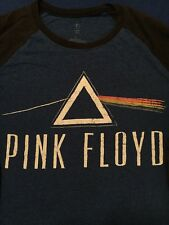 Pink Floyd Men's Baseball T-shirt Long Sleeve Multi-color Cotton Blend Large