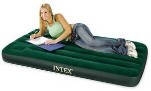 INTEX JUNIOR SINGLE Prestige Air Bed Outdoor Camping  Inflatable Mattress w Pump