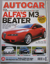 Autocar 12/10/2004 featuring Alfa Romeo GTV, AMG Mercede CLK DTM, BMW