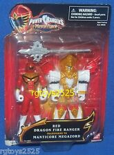 Power Rangers Mystic Force 4 Inch Red Ranger Morphs to Manticore Megazord New