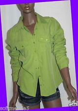 Abercrombie & Fitch Womens OLIVE GREEN Long Sleeved Casual Shirt SMALL S
