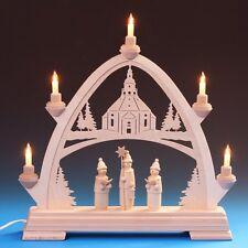 Electric NATIVITY Arch + Holy Family & ampoules. Idéal dans une fenêtre.