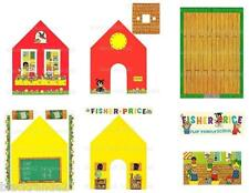 VINTAGE FISHER PRICE LITTLE PEOPLE 923 SCHOOL REPLACEMENT LITHOS STICKERS DECALS