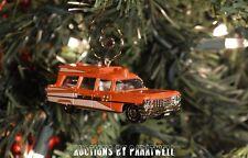 '63 1963 Cadillac Ambulance EMT 1/64th Scale Custom Christmas Ornament Adorno