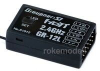 Graupner S1012 GR-12L HoTT Empfänger für 6 Servos, 2,4 GHz, telemetriefähig,12 L