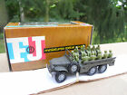 VEHICULE MILITAIRE FRANCE JOUETS DODGE 6X6 TRANSPORT DE TROUPES MINT IN BOX