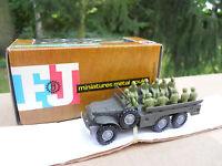 VEHICULE MILITAIRE FRANCE JOUETS DODGE 6X6 TRANSPORT DE TROUPES  MINT IN BOX