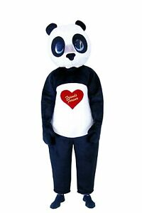 Adult Animal Robbery Henchman Friends Forever Cute Heart Love Panda Costume