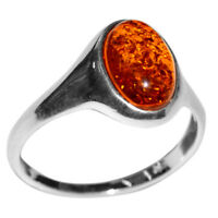 2.97g Authentic Baltic Amber 925 Sterling Silver Ring Jewelry N-A7192
