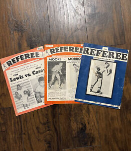 Vintage 1940 1948 1968 Referee Boxing and Wrestling Magazine Boxing Lot of 3