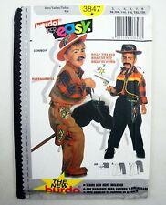 Burda 3847 Easy Pattern Boys Cowboy Costume Buffalo Bill Billy The Kid size 3-8