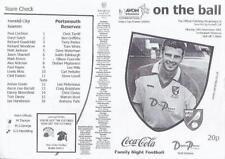 Division 1 Home Teams L-N Reserves Football Programmes