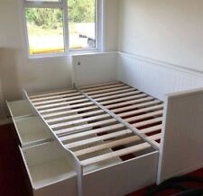 IKEA HEMNES day bed. White with 3 drawers (no mattresses) - USED
