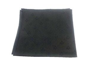 Black Freemasons 100% Silk Pocket Square / Handkerchief