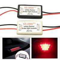 Vehicle Car GS-200A  LED Brake Stop Light Strobe Flash Module Controller Blac DM