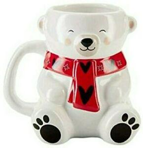Beautiful Colour Changing Teddy Bear Mug Avon - Add Hot Drink to Change Scarf