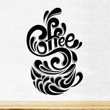 Coffee Cup Splash Kitchen Wall Tea Sticker Vinyl Decal Art Restaurant Pub Decor