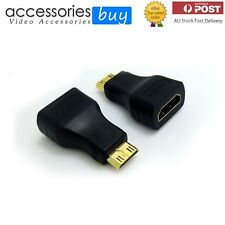 2 PACK New Mini HDMI to HDMI Male to Female Plug Adapter Converter Gold Plated