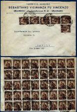 1947 - Lettera da Gragnano - Rara affrancatura multipla fronte/retro