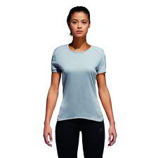 adidas Performance Damen Lauf Shirt RESPONSE SHORT SLEEVE 3S TEE W grau