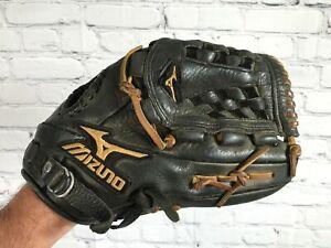 "MIZUNO Pro Model MVP Black Leather Baseball Glove Mitt RH 12"""