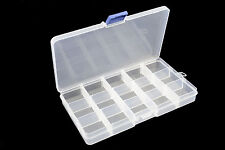 15 Compartment Frosted Plastic Organizer - Ideal for Gems, Body Jewellery Charms
