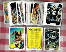 1989  MIKE ZECK  Complete Set (45) Comic Images