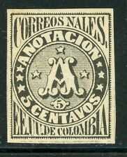 """Colombia MH Back of Book Selections: Scott #F5R 5c Black """"A"""" Reprint $$"""