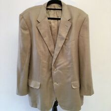 Corneliani Mens Sports Coat Beige Sand 46 R Drop 7 Silk Wool Blend Two Buttons