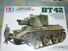 Tamiya 1/35 Tanque De Asalto Ejército finlandés Modelo BT-42 Figura Kit #35318
