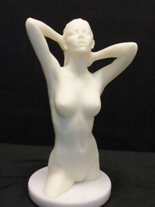 """Listed Artist David Parvin, """"Britton"""" Nude woman Sculpture with Base Signed LOOK"""