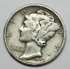 1942-s Mercury Head Dime. Error Double Date.  ( Inv. F)