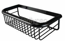 30cm Black Oil Rubbed Brass Bathroom Soap / Sponge Shower Storage Basket Kba065
