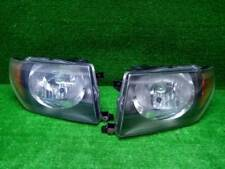 JDM 1999 Mitsubishi PAJERO io H76W H77W Headlights Lights Lamps Black Set OEM
