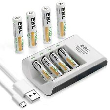Ebl Pack of 8 Aaa Batteries 1,100mAh Aaa Rechargeable Battery with Smart C807.